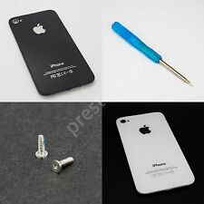 Back Battery Cover Glass Rear Panel Housing Replacement for iPhone 4 4S