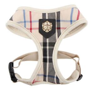 Puppia - Dog Puppy Soft Harness - Junior - Beige Plaid - XS S M L XL