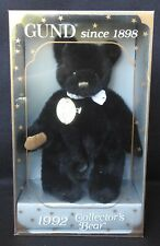 Gund 1992 Limited Edition Collector's Bear Black w/ Gold Tag New in Original Box