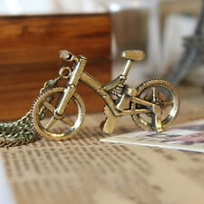 Women Vintage Bike Bicycle Pendant Bronze Chain Long Sweater Pendent Necklace