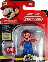 World of Nintendo ~ MARIO w/CAPPY (WAVE 13) ACTION FIGURE ~ Mario Odyssey