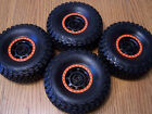 Traxxas Unlimited Desert Racer UDR Baja KR3 Tires &17mm Black Wheels Orange Trim