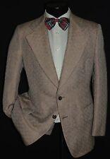 Vintage custom made men's 2 piece wide lapels DISCO suit jacket coat pant 38 S
