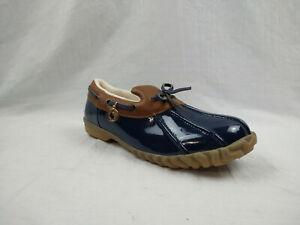 Sporto Pamela Tan Navy Insulated Duck Toe Loafers Shoes Women's Size 7 M US