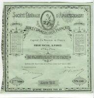 Paris II ème 51 Rue Ste Anne - Beau Décor Secteur de la Finance & Banque de 1881