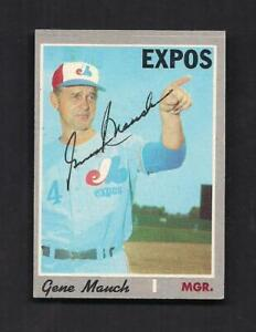 Gene Mauch Signed 1970 Topps Baseball Card #442-Montreal Expos Mgr D-2005