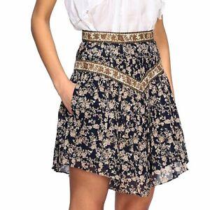 Isabel Marant Etoile Women's Floral Printed Cotton VALERIE Short Mini Skirt S 36
