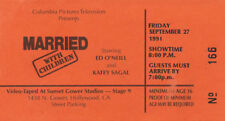 MARRIED WITH CHILDREN - TV Ticket - September 27, 1991 - Vintage Unused