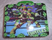 "Teenage Mutan Ninga Turtles 8"" x 6.5"" Tin Lunch box Metal Toy"
