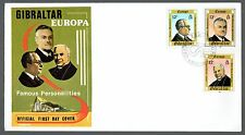 1980 Gibraltar FDC Europa Famous Personalities