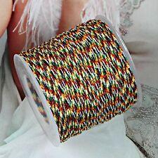 0.8 mm Coloured Chinese Knot Nylon Cord Shamballa Beading Thread Macrame String