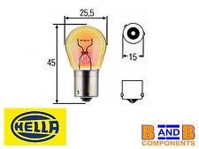 Hella Ampoule PY21W 581 BAU15s 12v 21W Ambré X 10 A1138