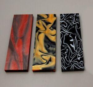 Ein Paar Griffschalen Griffbauer Messerbauer Kunststoff BITTE Farbe auswählen!