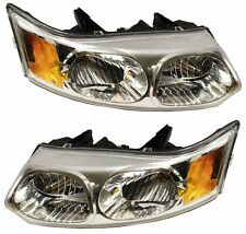 Saturn Ion 03-07 Left Lh & Right Rh Headlights Headlamps Pair Set of 2 Sedan (Fits: Saturn Ion)