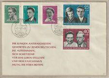 """Ersttagsbrief - """"Aufbau und Erhaltung der Nationalen Gedenkstätten 1961"""" Satz"""