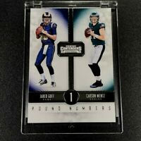 JARED GOFF / CARSON WENTZ 2016 PANINI CONTENDERS #1 ROUND NUMBERS ROOKIE RC