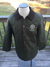 NWT Barbour Liddesdale Polo Club Regimental Men Large (42-44) Olive Quilt Jacket