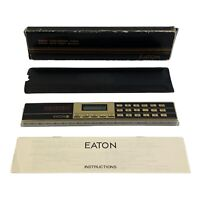 Vintage 1980s EATON Solar Calculator Ruler (Complete TESTED&WORKING)