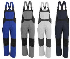 X-Serie Herren Latzhose Arbeitshose Berufskleidung Montage Maler weiß grau blau