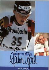 Katrin Apel *UH* Biathlon original signierte Autogrammkarte AK TOP NEU 5492