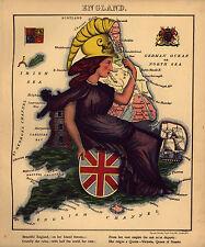 12 Set Map dell'Europa NUOVO riproduzione Divertente ATLAS Vintage Antico Vecchio Colore Colore