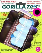 GORILLA TIPS FINGERTIP GUARDS/PROTECTORS for GUITAR BANJO UKULELE xSMALL CLEAR