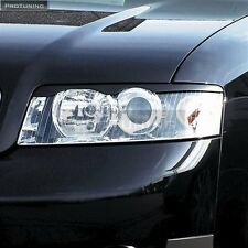 AUDI A4 B6 8E Headlamp Eyebrows Eyelids Pair set eye brow lid masks tuning abs
