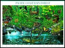 USA 2000 SC#3378 Pacific Coast Rain Forest Duck Trout Squirrel, Stamps MNH VF