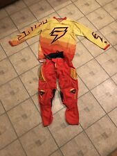 USED PRE-OWNED SHIFT STRIKE ZERO ORANGE YELLOW RED MEDIUM JERSEY 28 PANTS RIDING