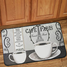 "Memory Foam Anti Fatigue Chef Design Kitchen Floor Mat Rug 30"" x 18"" Paris Café"