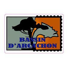 Autocollant bassin d'Arcachon timbre stickers adhésif logo 1 8 cm
