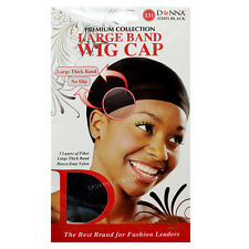 NEW 1PC Donna Premium Collection Large Band Wig Cap #22031 Black