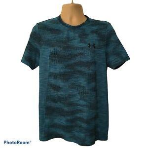 Under Armour Men's Siphon Short Sleeve T-Shirt Teal Rush Medium Fitted Heatgear