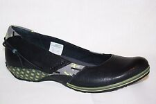 MERRELL CAPRICE ELLES BLACK LEATHER SLIP ON WEDGE HEEL LOAFER SHOES WOMENS SZ 7