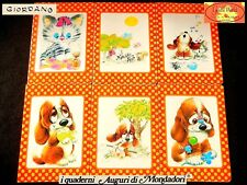 🐕 GIORDANO WAGS WHISKERS Vintage 1980 QUADERNI serie completa SAD SAM dog kitty
