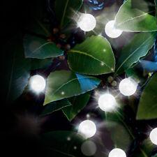 10 SOLAR OUTDOOR STRING BULB FAIRY LED LIGHT HANGING GARDEN PARTY WHITE