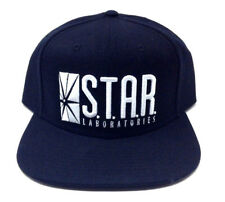 DC COMICS FLASH S.T.A.R STAR LABORATORIES LOGO BLACK ADJUSTABLE SNAPBACK HAT CAP