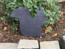 Eichhörnchen Tier Gartendeko Tischdeko Figur Schiefer ca.22x19cm