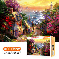 1000 Pieces Jigsaw Puzzles Romantic Town Adults Kids Learning Education DIY Toy
