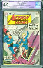 Action Comics #252 CGC 4.0 (R) DC 1959 1st Supergirl! Superman! L12 202 cm clean