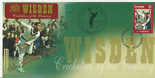 GRENADA WISDEN 2000 CRICKET SIR GARFIELD SOBERS 1v FIRST DAY COVER No 3 of 4