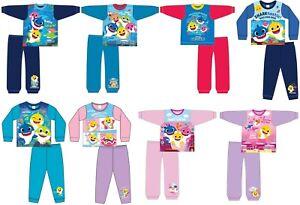 Boys Girls Kids Baby Shark Character Pyjamas Pjs Song Doo Doo 18-24 Mths - 5 Yrs