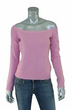 Ralph Lauren Black Label Metallic Pink Cashmere Sweater L New $498