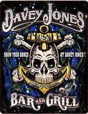 Davey Jones Bar and Grill Metal Sign
