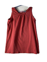 Hanna Anderson . Girls Top .size 140 cm , Us 10 . Orange . 100% Pima Cotton