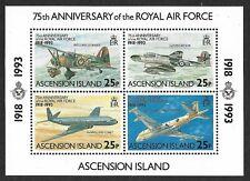 Ascension 1993 75th Anniv. of the Royal Air Force Mini-Sheet MS599 U/M(MNH)