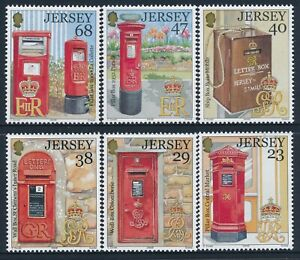 2002 JERSEY POSTAL LETTER BOXES 150th ANNIVERSARY SET OF 6 FINE MINT MNH