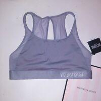 Victoria Secret VSX Sports Bra Medium Banded Logo Trim Purple Orange White