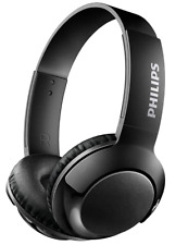 Philips SHB3075BK BASS+ Bluetooth Wireless On-Ear Headphones with Microphone