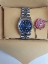 Mens homage Ik Date Watch 36mm Fluted Bezel Vintage Jubilee Bracelet EXCLUSIVE!